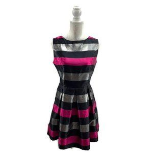Charming Charlie Fit & Flare Striped Dress Size M